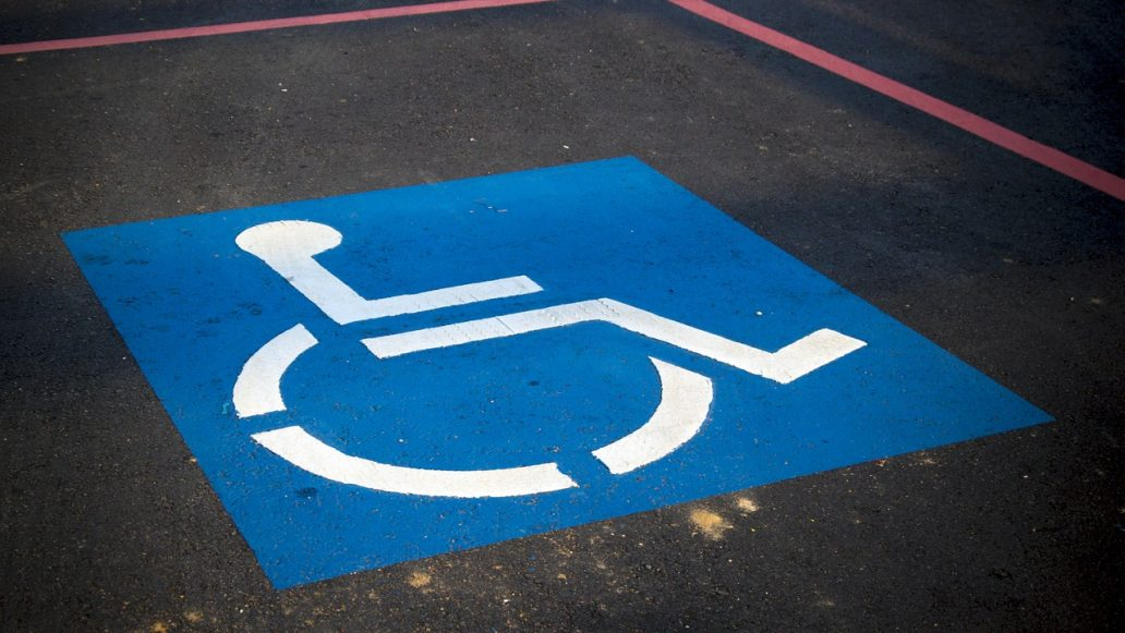 handicap parking, sign, disable